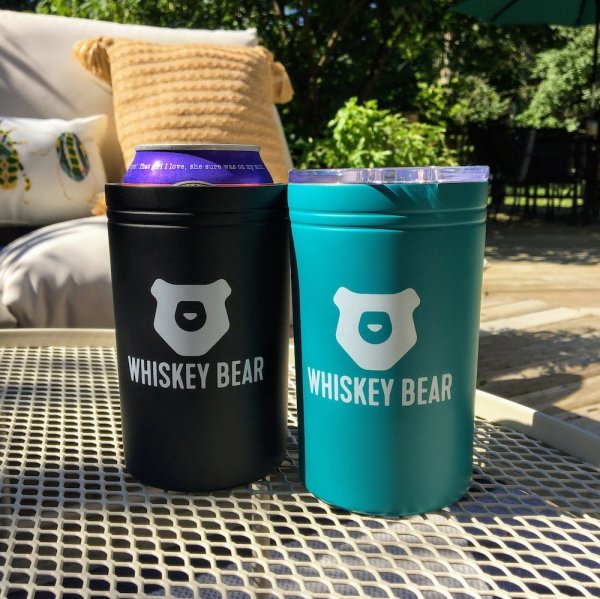 Whiskey Bear - Tumbler - 11 oz - Teal