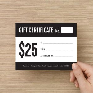 Whiskey Bear Gift Certificate