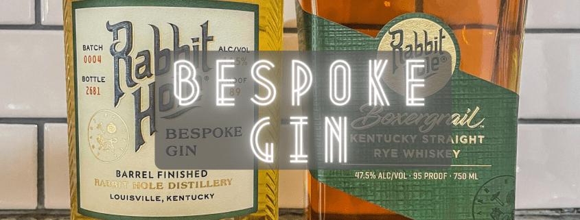 Header photo of Rabbit Hole's bespoke gin and boxergrail rye whiskey.