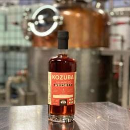 Bottle of Kozuba & Sons 7 year high wheat rye bourbon