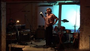 """Joey Truman reads from Postal Child. """"They're just words on a fucking page."""" Photo: Alex Lozupone."""