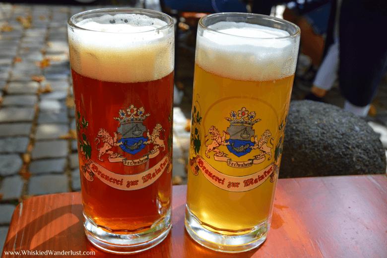 Beer in Frankfurt.