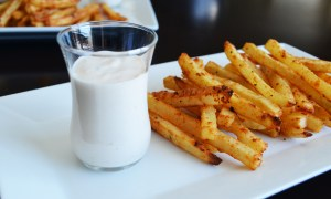 Baked French Fries with Tangy Dipping Sauce