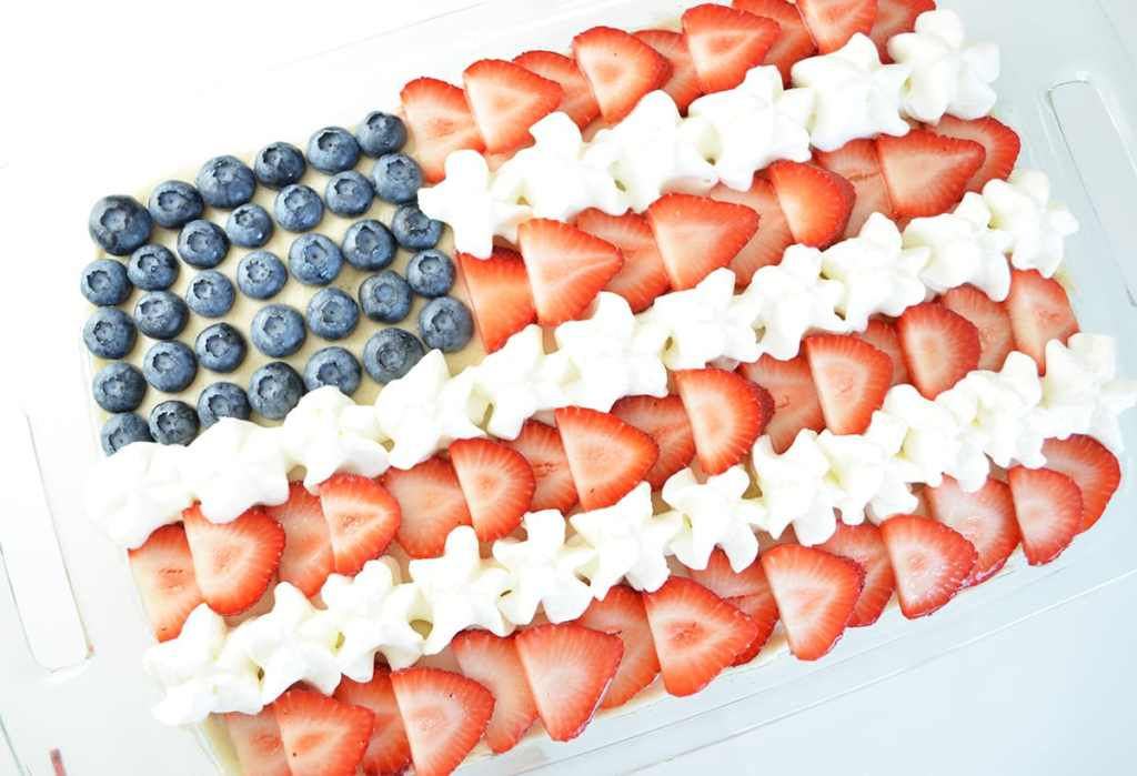 The Best Strawberries and Cream (Flag) Cake