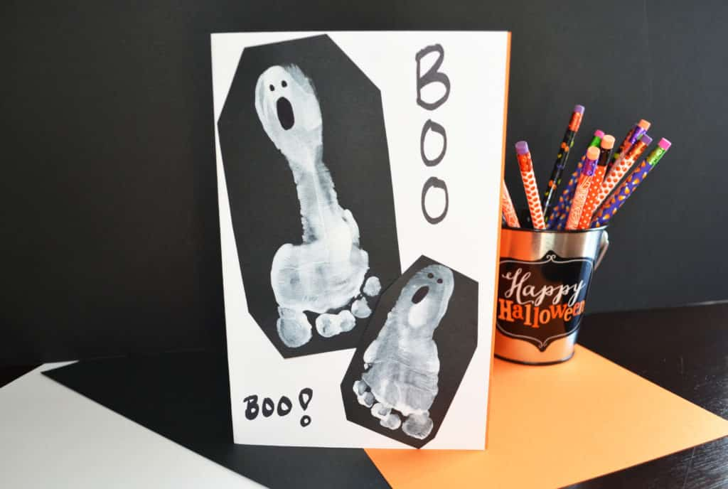 Ghost Foot Print Halloween Card