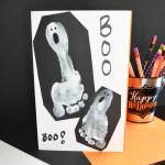 Ghost Foot Print Halloween Card