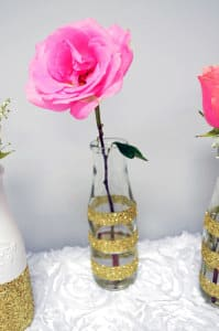 DIY Gold Glittered Vase