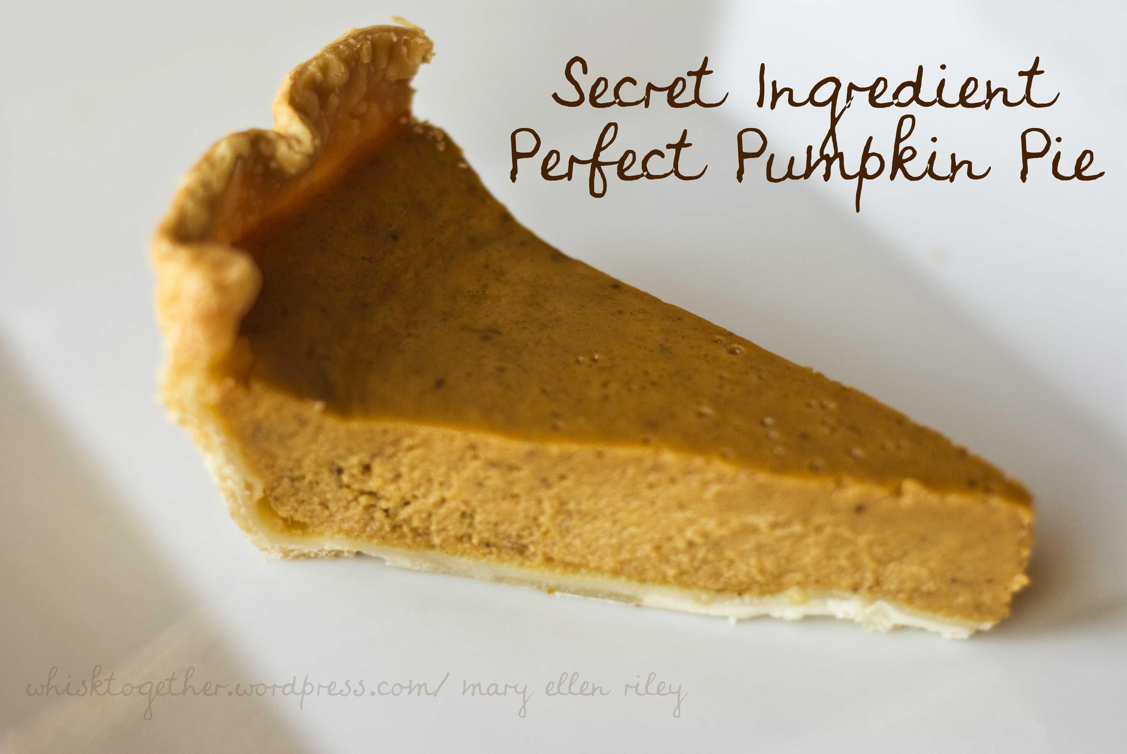 Pumpkin Pie with a Secret Ingredient