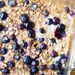 Baked Peach Blueberry Oatmeal