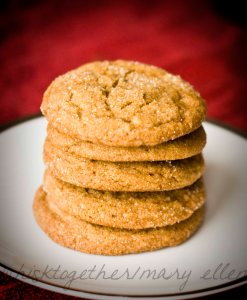ginger molasses cookiesCR