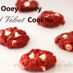 Ooey Gooey Red Velvet Cookies