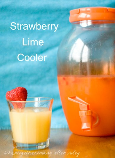 Strawberry Limeade Cooler_1 on Whisk Together