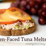 Healthier Open Faced Tuna Melts