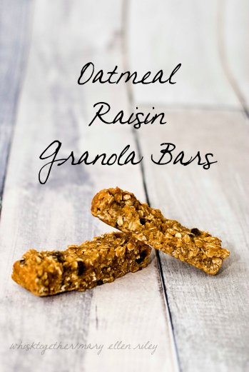 Oatmeal Raisin granola bars on Whisk Together
