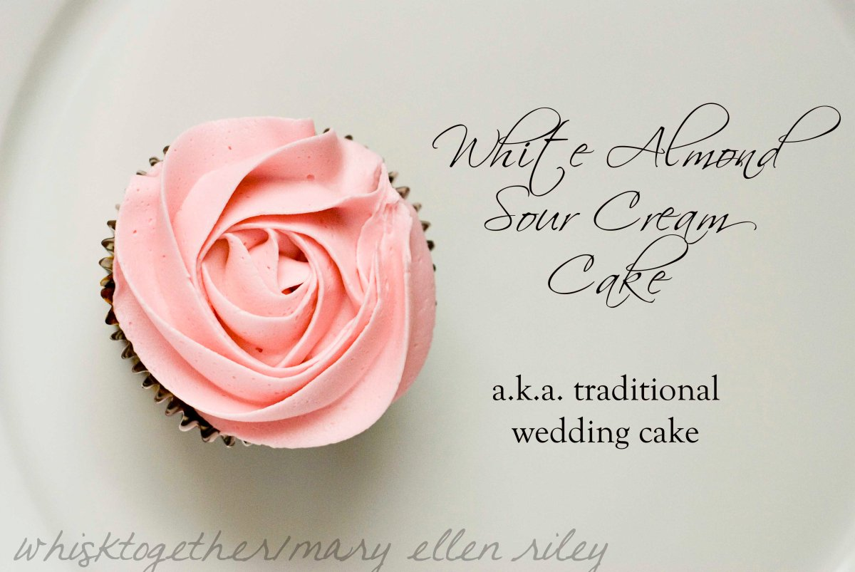 wedding cake recipe with sour cream and mix white almond sour wedding cake 23656