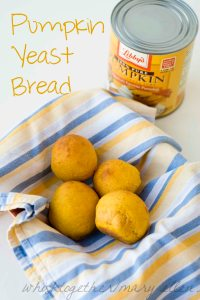 Pumpkin Yeast Bread on Whisk Together