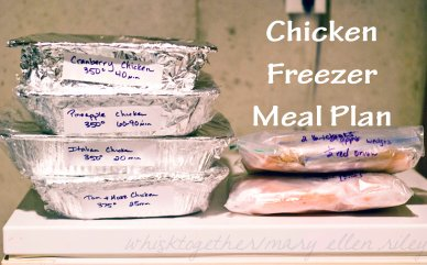 Chicken Freezer Meal Plan on Whisktogether.wordpress