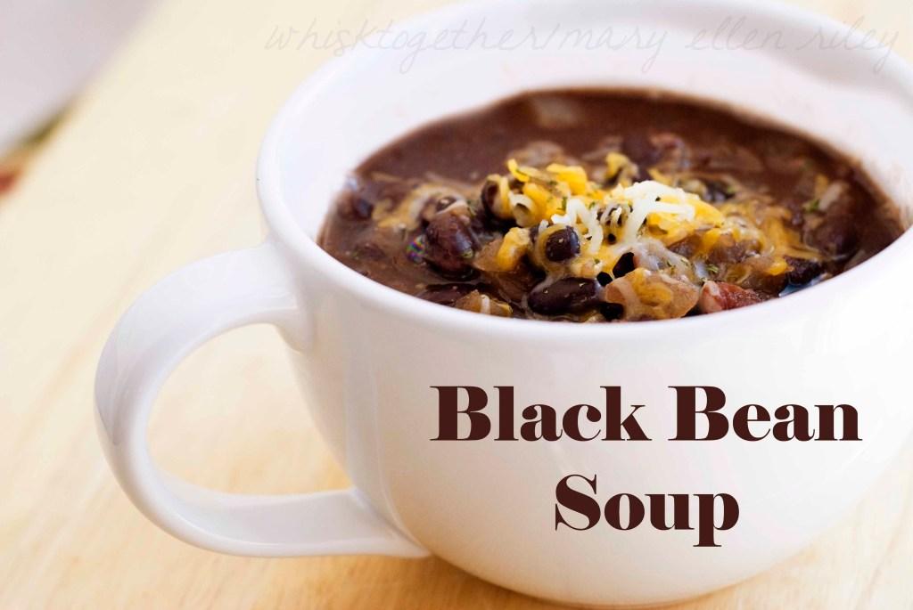 Black Bean Soup on Whisk Together