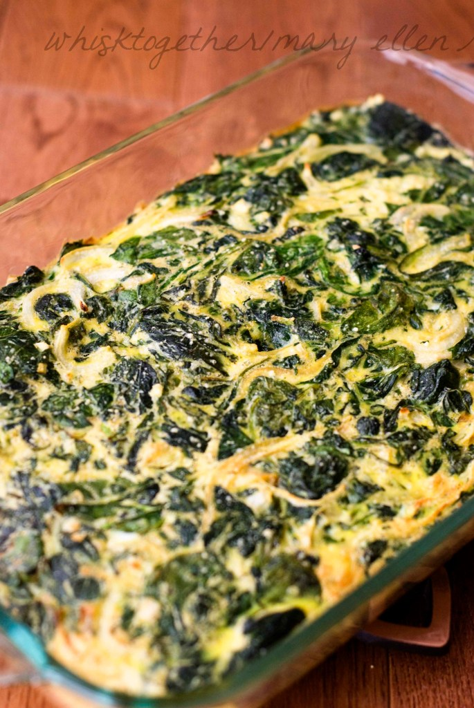 Spinach Egg Casserole_1 on Whisk Together