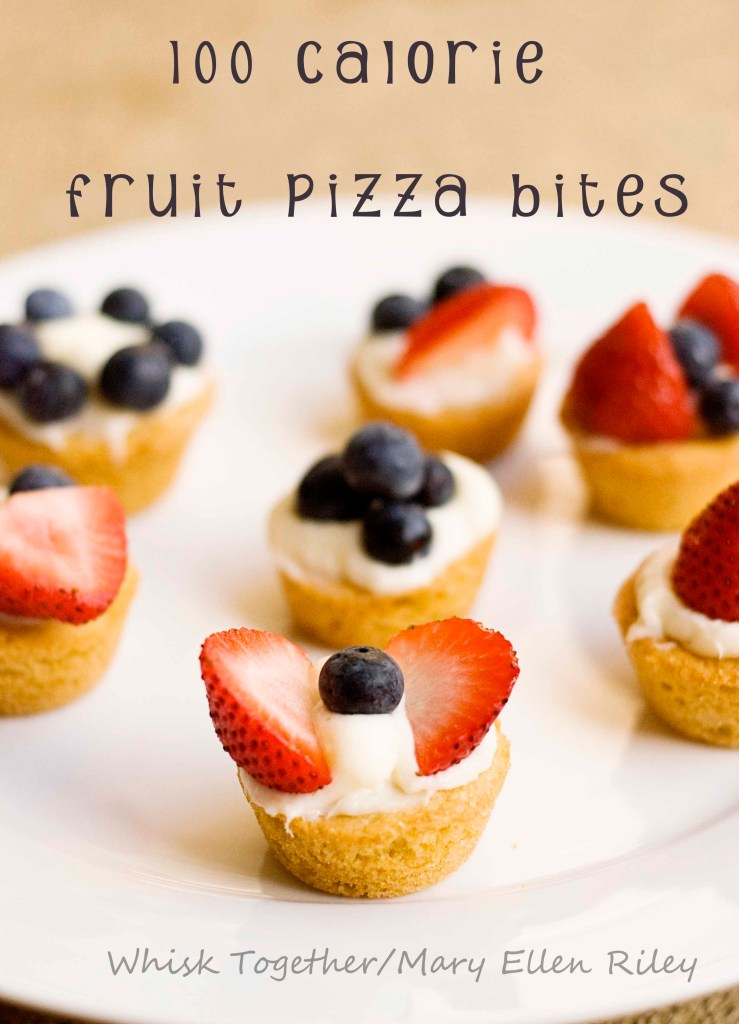 Mini Fruit Pizzas on Whisk Together