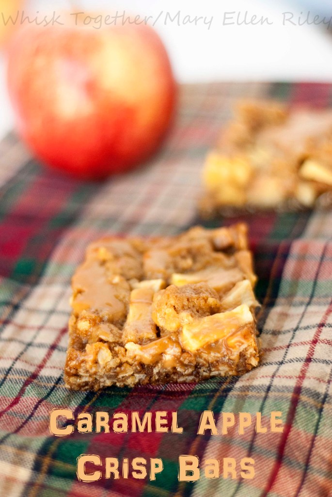 Caramel Apple Crisp Bars_4 on Whisk Together