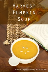 Harvest Pumpkin Soup on Whisk Together and Pinterest