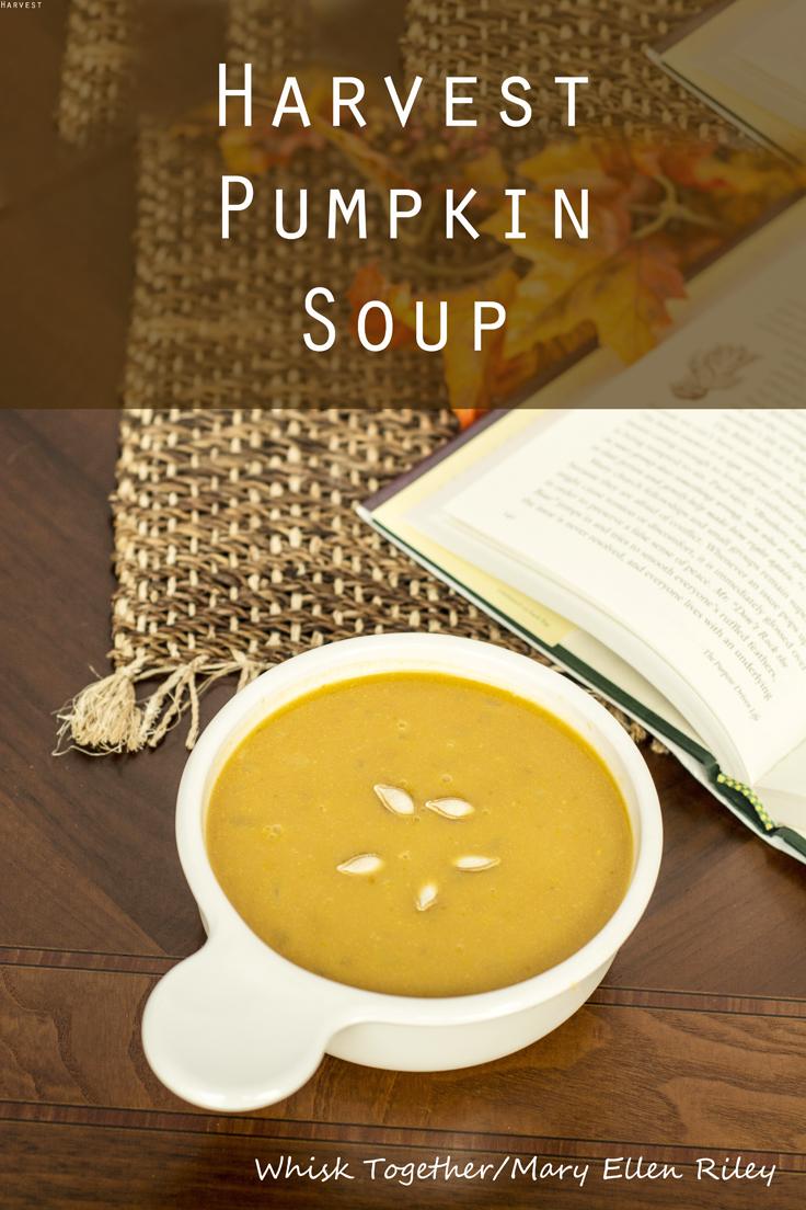 Harvest Pumpkin Soup on Whisk Together and Pinterest