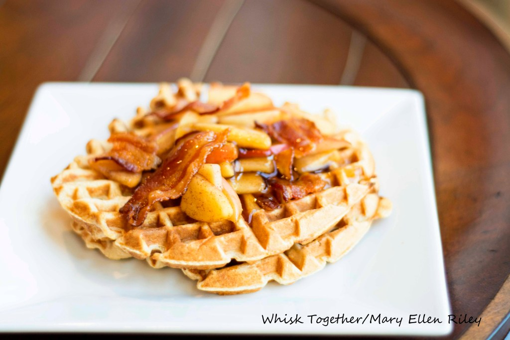 Bacon and Apple Waffles on Whisk Together