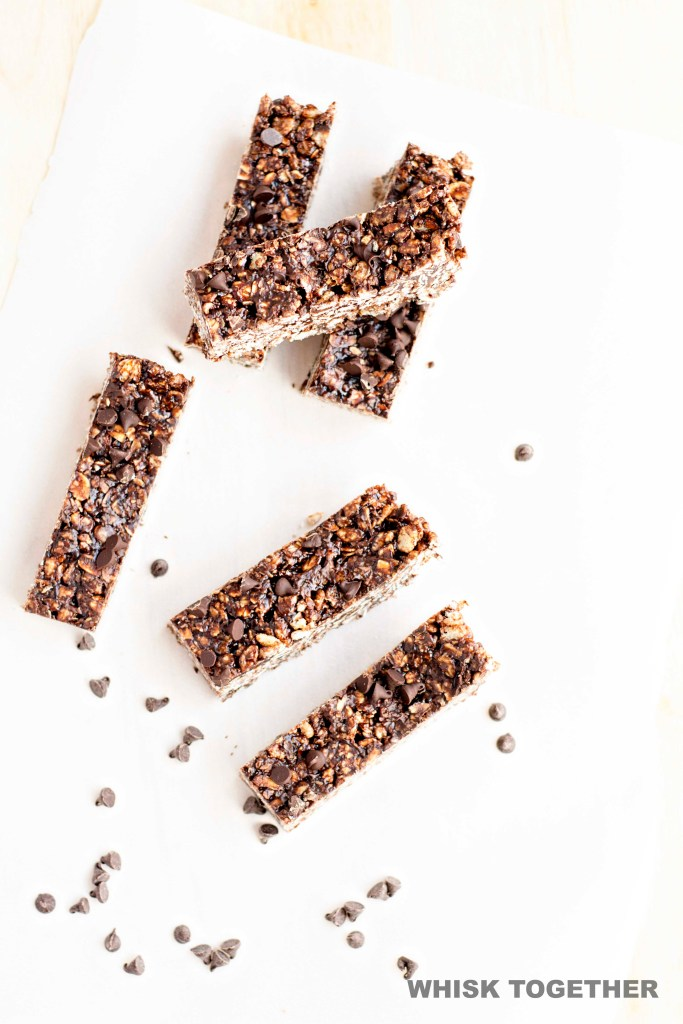 Choco Chip Peanut Butter Granola Bars on Whisk Together