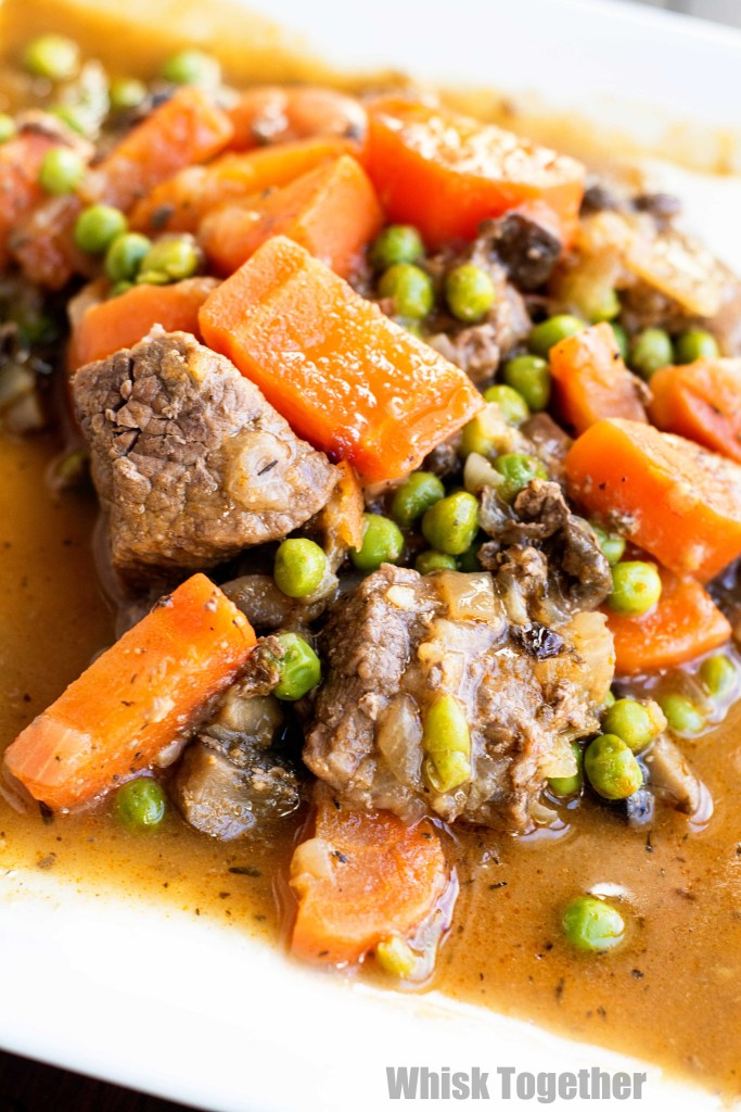 Beef and Vegetable Stew on Whisk Together