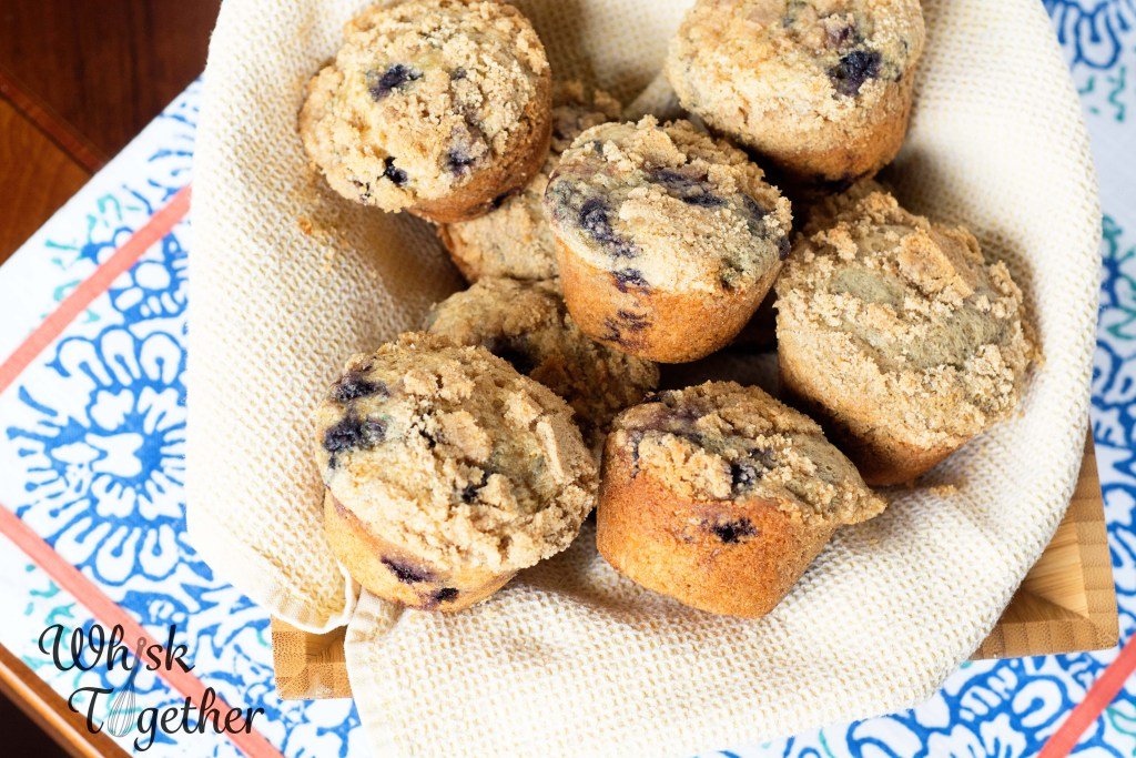 Whole Wheat Blueberry Crumb Muffins-2273 on Whisk Together
