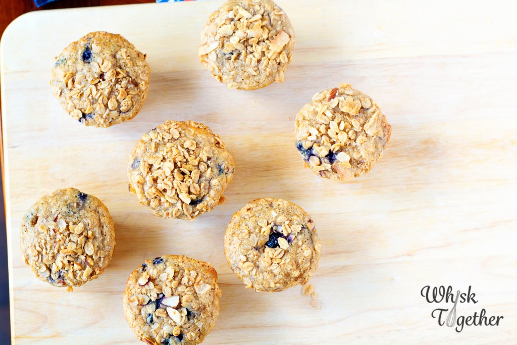 Granola Blueberry Muffins-2679 on Whisk Together