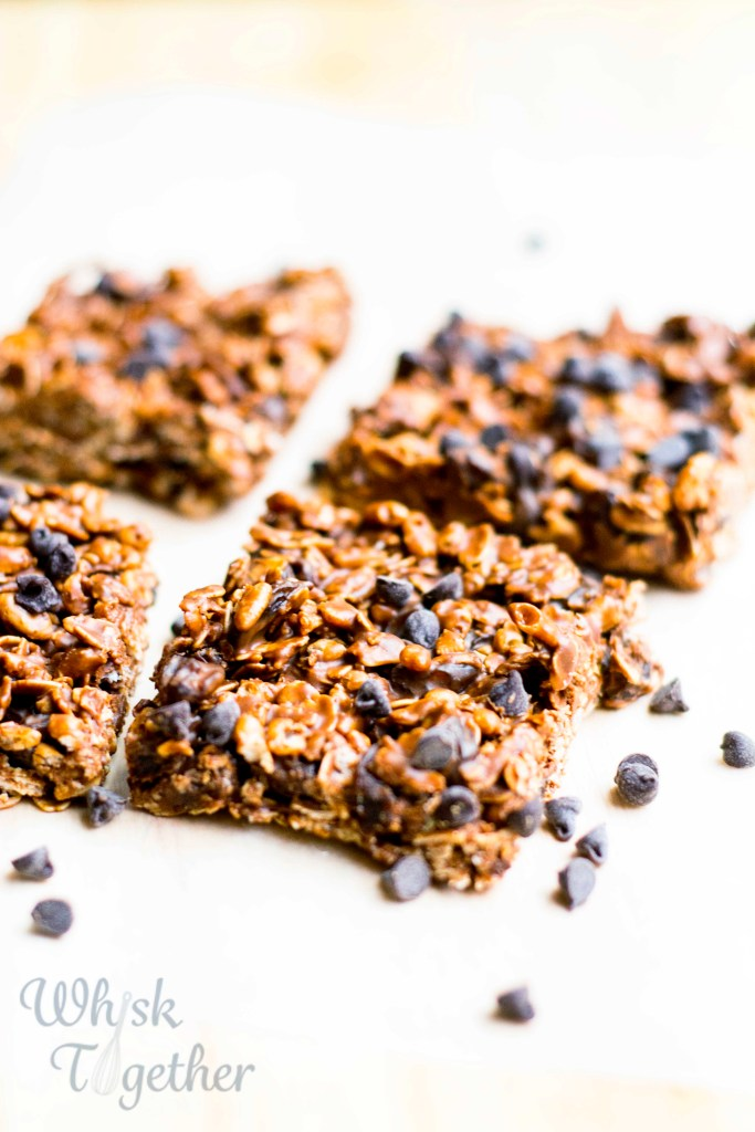 Chocolate Fudge Granola Bars 2 on Whisk Together