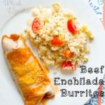 Beef Enchilada Burrito