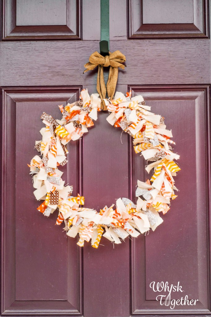 Fall Rag Wreath on Whisk Together-4913
