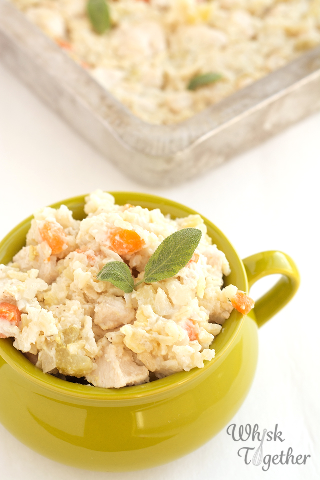 Chicken and Rice Casserole on Whisk Together