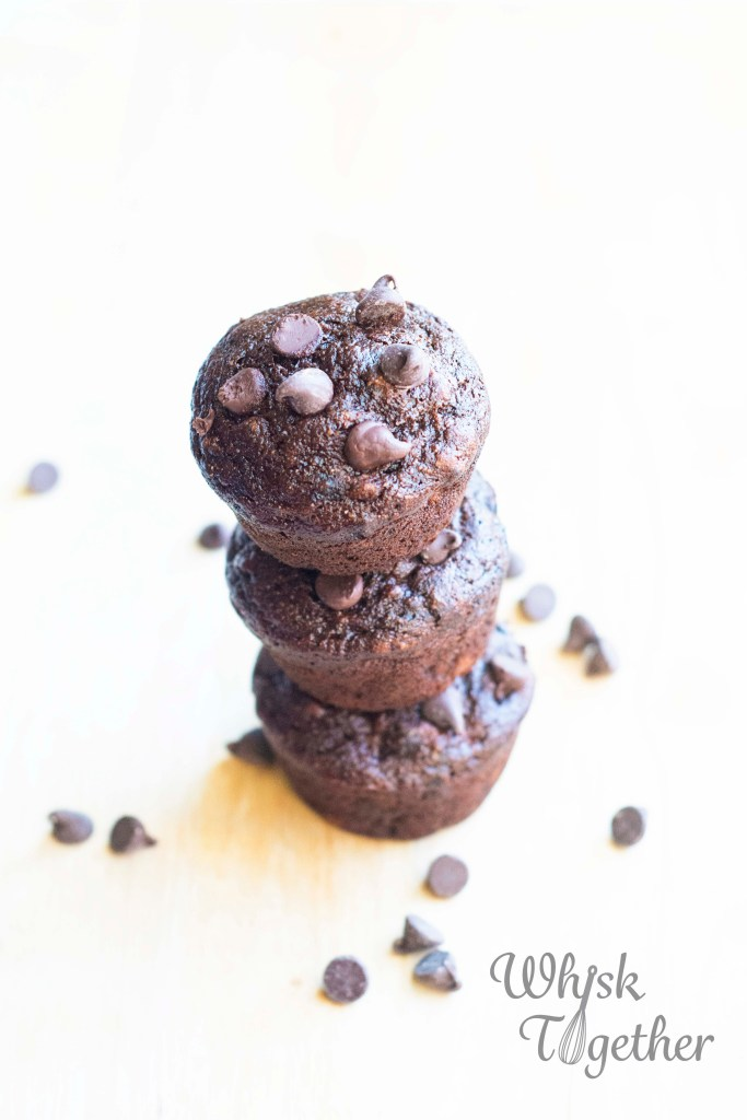 Double Chocolate Banana Muffins_5 on Whisk Together