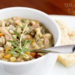 Hearty Ham and Bean Soup (Christmas Ham Leftovers!)