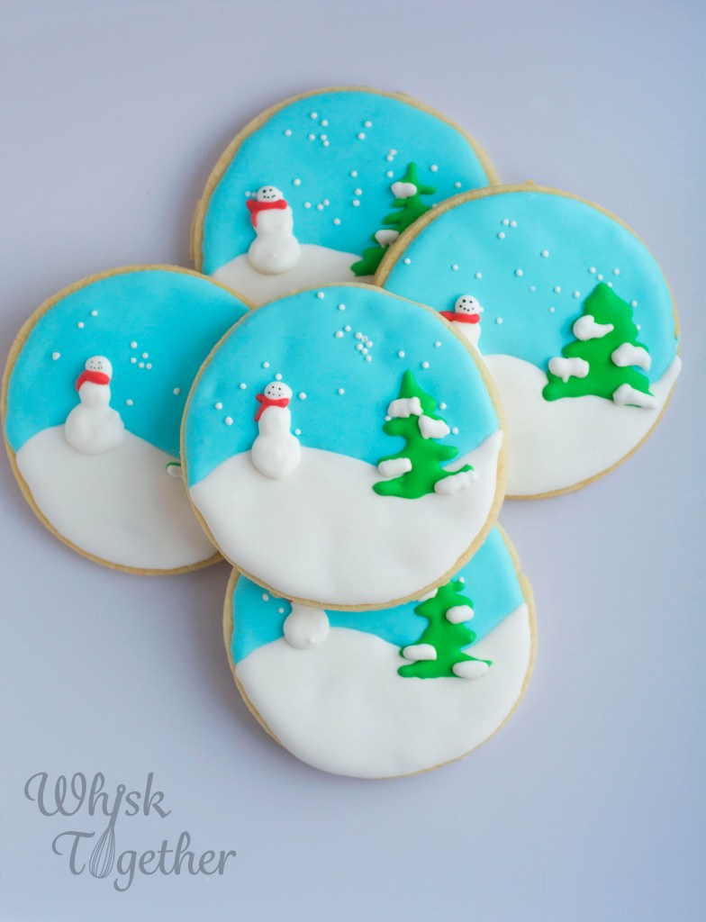 Snowglobe Cookies on Whisk Together