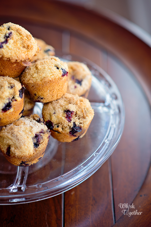 Blueberry Muffins with Crumble Topping