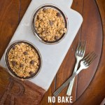 No Bake Chocolate Cherry Crisp