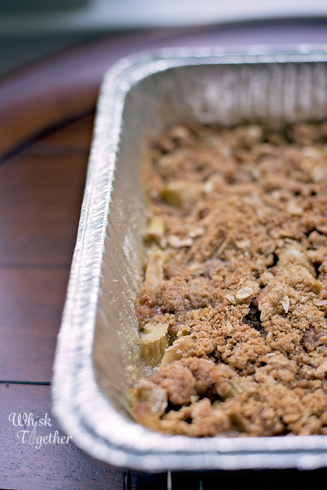 rhubarb apple crisp recipe