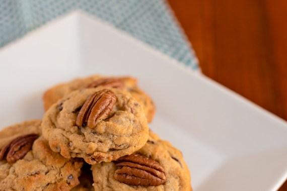 Brown Butter Chocolate Chip Pecan Bourbon Cookies