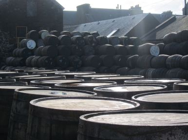 Empty Casks at Springbank Distillery