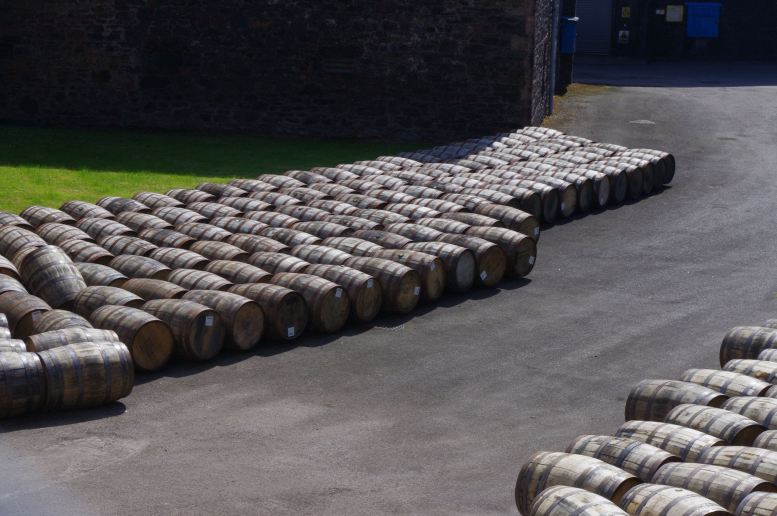 Empty Casks at Glen Scotia