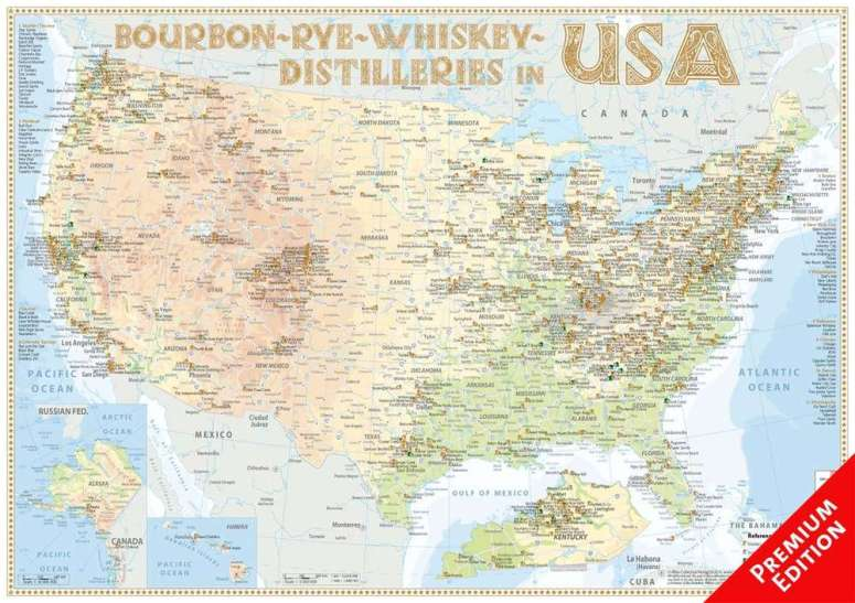 USA Distillery Map