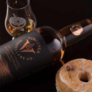 Virginia Distillery Co. Port Cask Finish | Vegan Cherry Blossom - Whisky And Donuts - WhiskyAndDonuts.com