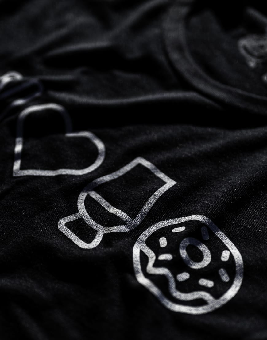 Peace & Love Womens Tee - Black - Whisky and Donuts - WhiskyAndDonuts.com