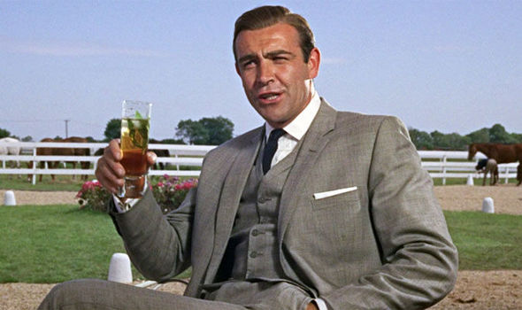 James Bond and whisky - screen excerpt of Sean Connery from Goldfinger dd2f3576275f