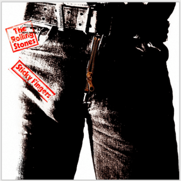 andy warhol's sticky fingers cover waist view of man in tight genes